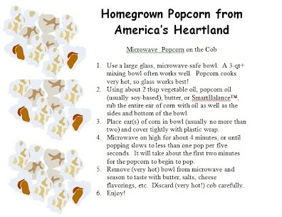 Microwave Popcorn on the Cob Recipe